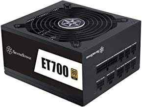 Silverstone Technology ET700-MG 700 Watt Fully Modular Plus Gold ATX Power Supply with Flat Black Flex Cables and Improved...