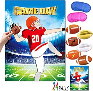 Pin the Football Party Games Football Party Supplies Indoor Outdoor Games for Kids Football Themed Party Birthday Party Class Game Sport Party Game for Boys girls
