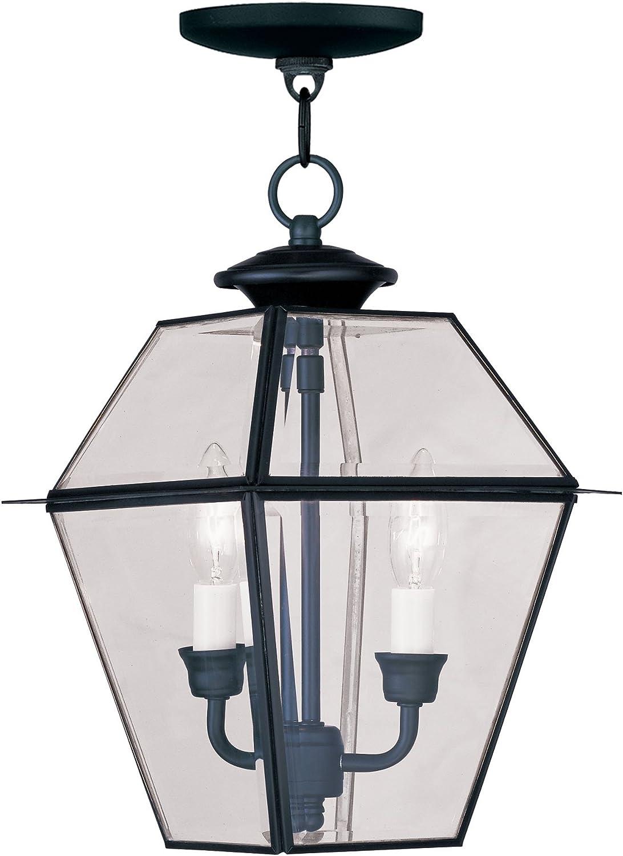 Livex Lighting 2285-04 Fresno Superior Mall Westover Outdoor Hanging Lantern 2-Light