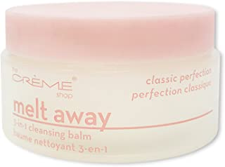 The Crème Shop Korean Beauty Skincare Best Daily Makeup Remover, Brightens Regenerates Relief Acne Scars and Redness, Deep Cleansing Silky Texture -Melt Away 3 in 1 Cleansing Balm(Classic Perfection)