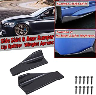 Kyostar Carbon Fiber Pattern Car Rear Lip Angle Splitter Diffuser Bumper Spoiler Winglet Wings Anti-Crash Modified Body Side Skirt