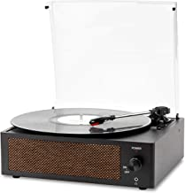 Musitrend Vinyl Record Player Bluetooth Turntable with Built-in Speakers Belt-Driven Vintage Phonograph Record Players 3 S...