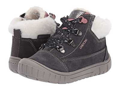 Geox Kids Omar Waterproof 1 (Toddler) (Medium Grey) Girls Shoes