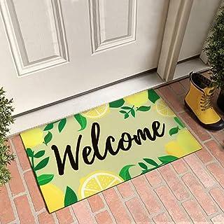 Lemon Welcome Doormat Lemonade Fresh Summer Indoor Outdoor Floor Mat House Entrance Front Porch Rugs Squeeze The Day Greet...
