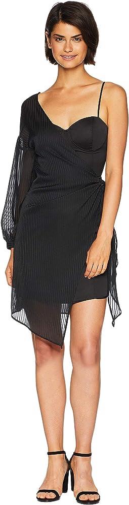 Tie Side One Shoulder Dress