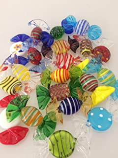 Brccee AC 20pcs Vintage Murano Glass Sweets Wedding Xmas Party Candy Decorations Gift(Trick or Treat Halloween)