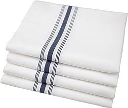 Riegel PRE-1822-FBL Bistro Napkins, 18-Inch by 22-Inch, Blue Stripe, Set of 4
