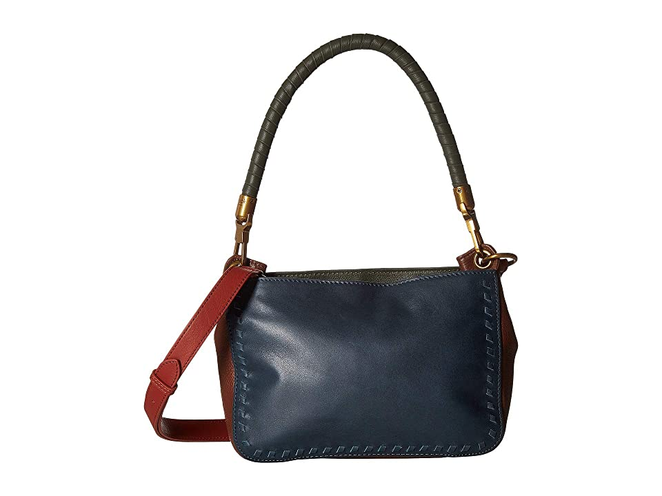 The Sak Estrada Three-Way Top Zip by the Sak Collective (Peacock Block) Top-Zip Handbags
