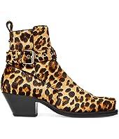 Calf Hair Cuban Heel Jodhpur Boot