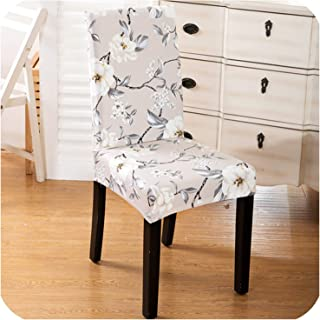 Modern Floral Pattern Elastic Chair Covers Spandex Dining Room Seat Protective Slipcover Case Removable Stretch Chair Cover,21,Universal