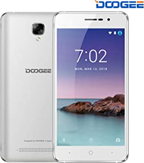 """DOOGEE X10S, Unlocked Cell Phones - Dual Sim Smartphone with 5.0"""" IPS Display - Android 8.1-1GB RAM - 8GB ROM - 2MP+5MP Dual Camera - 3360mAh Battery - 3G Unlocked Phones - Silver"""