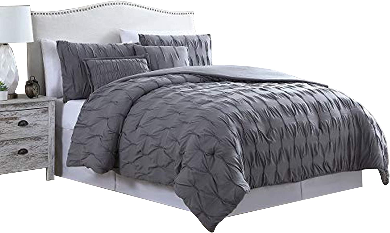 The Urban Port Bergen 5 Piece King お得なキャンペーンを実施中 入荷予定 with Comforter Set Puckered P