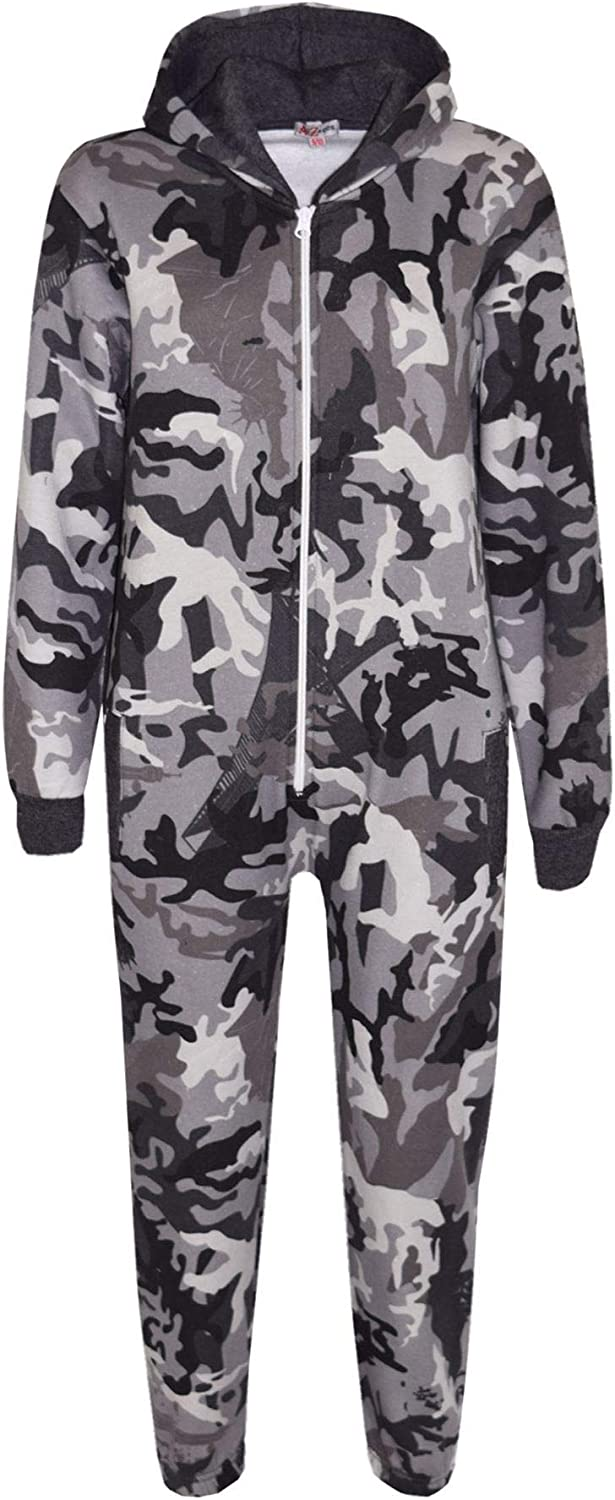 Girls Boys Some reservation Fleece Camouflage A2Z El Paso Mall Onesie In Piece Kids One All On