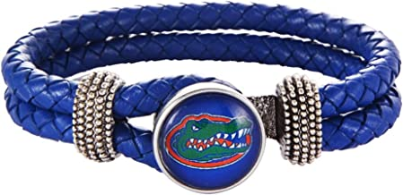 HPS Florida Gators Double Leather Band Bracelet with Charm
