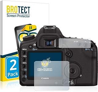 BROTECT Protector Pantalla Compatible con Canon EOS 5D Mark II Protector Transparente (2 Unidades) Anti-Huellas