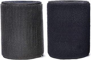 MARCHONE 11 cm (4,3 inch) klittenband breed 2 meter lang geen lijm klittenband voor vliegengaas, zwart