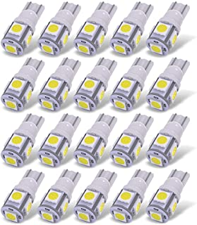 YITAMOTOR 20X T10 Wedge 5-SMD 5050 White LED Light Bulbs W5W 2825 158 192 168 194 Interior Reading Dome Map Cargo Trunk Do...