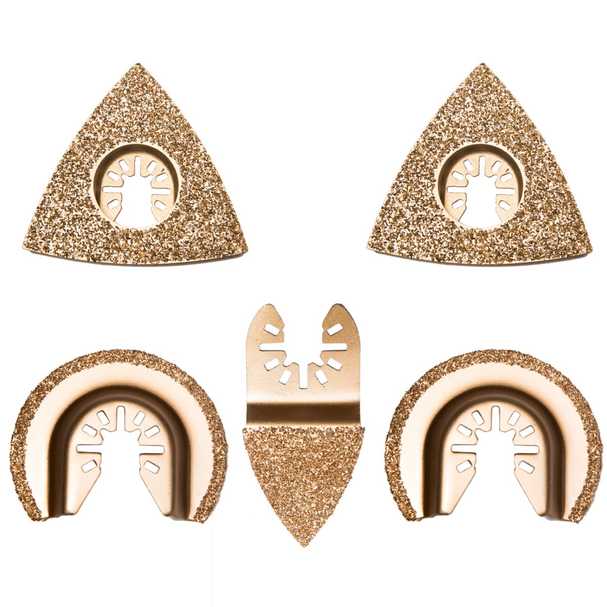Universal Carbide Oscillating Saw Blades Semicircle Triangular Finger Carbide Oscillating Multi Tool Blades for Tile Grout Removal