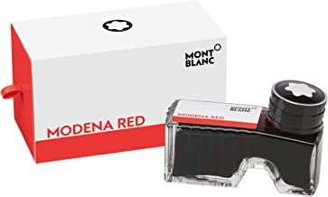 Montblanc Ink Bottle Modena Red 119566 – Premium-Quality Refill Ink in Bright Red for Fountain Pens, Quills, and Calligraphy Pens – 60ml Inkwell