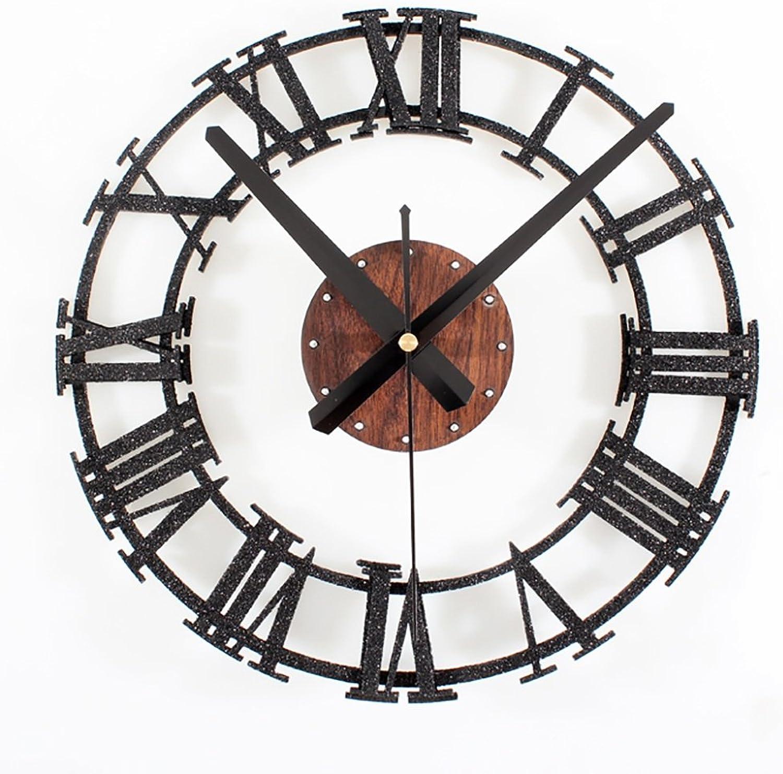DLDL Loft Industrial Reloj de Parojo Estilo Ornamento Decoración de La Parojo Hang Wall Decoration Hang Wall Decoración de La Parojo (Color   B)