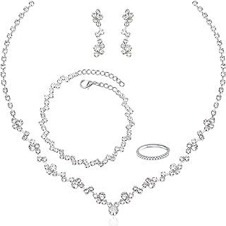 گردنبند نقره گردنبند عروس عروس کریستال جواهرات برای عروس لوازم جانبی لباس عروس ساقدوش عروس برای زنان