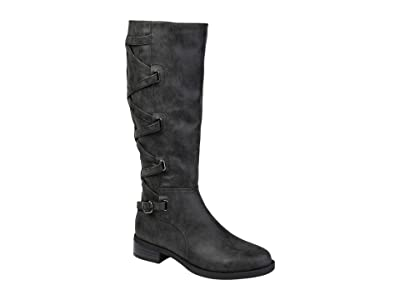 Journee Collection Carly Boot Wide Calf (Black) Women
