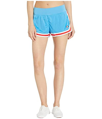 Champion Mesh Notch Shorts (Active Blue) Women