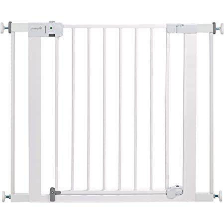 Amazon Com Safety 1st Easy Install Extra Tall And Wide Baby Gate With Pressure Mount Fastening Pack Of 1 Home Kitchen
