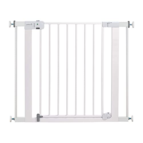 Safety 1st Easy Install Auto-Close Baby Gate with Pressure Mount Fastening White  29-38 Inch (Pack of 1)