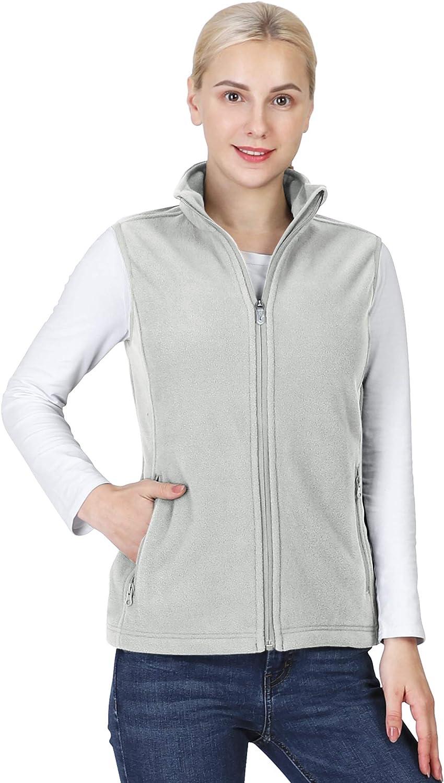 Outdoor Ventures Women's Polar Fleece Max 58% OFF Max 62% OFF Po Outerwear Vest Zip with