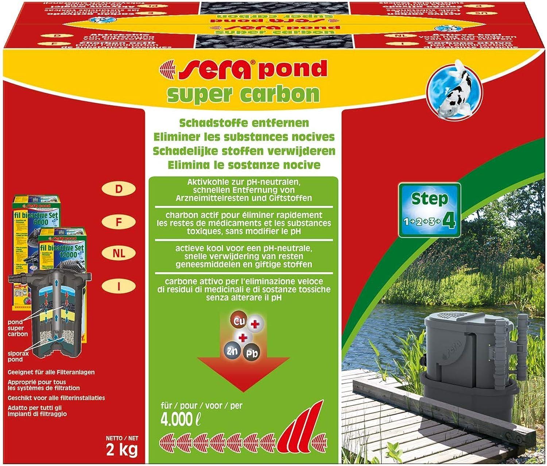 Sera Pond Super Carbon 2 kg, 4.4 lb. Aquarium Filter Accessories