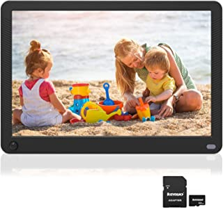 Kenuo 10.1 inch Digital Picture Frame Motion Sensor Include 32GB Card 1920x1080 IPS Screen Digital Photo Frame, Auto Power On/Off, Music Support 1080P Video, SD Card and USB