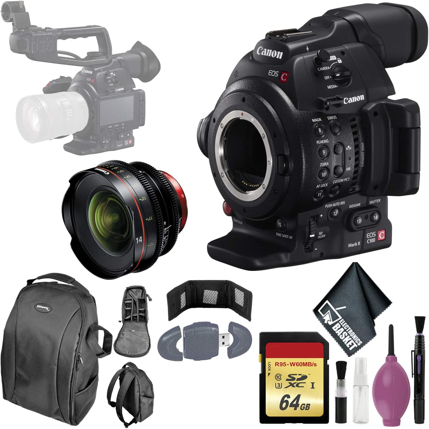 Canon EOS C100 Mark II Cinema Tulsa Mall CMOS Pixel Max 79% OFF AF with Dual Camera