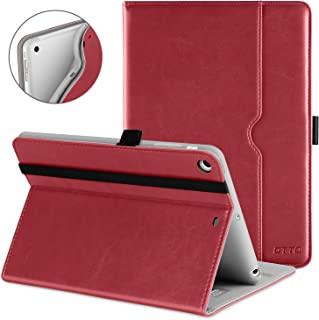 DTTO iPad Mini 1 2 3 Case, Premium Leather Folio Stand Cover Case with Multi-Angle Viewing and Auto Wake-Sleep Function, Front Pocket for Apple iPad Mini 1/Mini 2/Mini 3 - Red