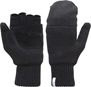 TrailHeads Women's Fingerless Gloves | Merino Knit Convertible Mittens
