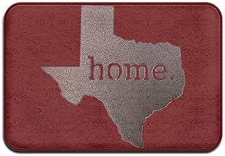 Rxixianjin-Tshirt Texas Home (2) Door Mats Outdoor Mats Doormat for Bathroom, Kitchen, Balcony, Etc 16 X 24 Inch