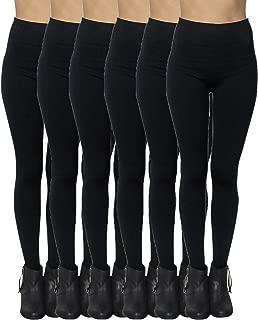 6 Pack Seamless Fleece Lined Leggings for Women - Winter,...