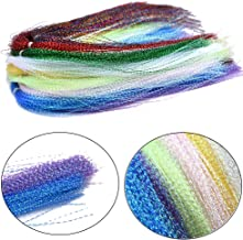 Phecda Sport 10 Packs Colorful Crystal Flash Fly Fishing Line Fly Tying Material for Fishing Lure Dry Flies