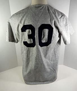 Durham Bulls #30 Replica Grey Jersey Ebbets Fields Fannels - MLB Unsigned Miscellaneous