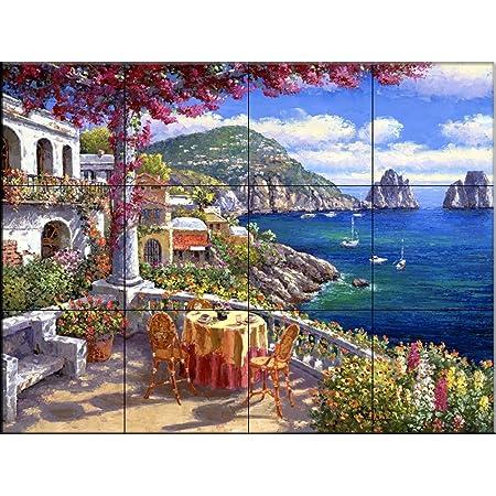 Ceramic Tile Mural Terrace Arch I By Sung Kim Ceramic Tiles