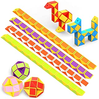 Pocket money gifts 3 pcs - 24 blocks Snake Cube Toy Puzzle Children, giveaways child's birthday party favors boys Magical ...
