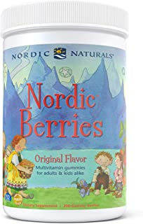 Sponsored Ad - Nordic Naturals Nordic Berries, Citrus - 200 Gummy Berries - Great-Tasting Multivitamin for Ages 2+ - Growt...