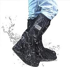 Frelaxy Waterproof Rain Boot Shoe Cover with Reflector, Reusable & Foldable Rain Boots, Rain Snow Gear for Cycling Motorcycle Fishing Men Women Kids (1 Pair)