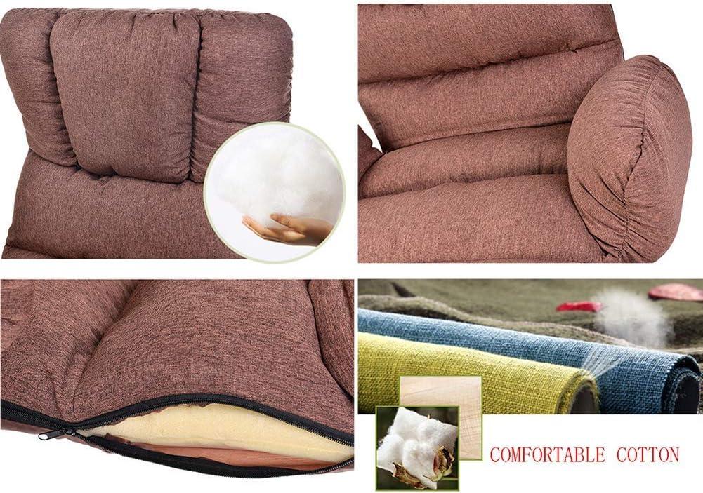 WZF Chaise Longue avec accoudoirs, Chaise Pliante au Sol, lit de Repos Confortable pour Salon à la Mode Moderne, canapé-lit inclinable et rembourré Gray