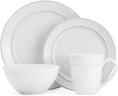 Gourmet Basics by Mikasa Aubrey 16-Piece Dinnerware Set, Service For 4
