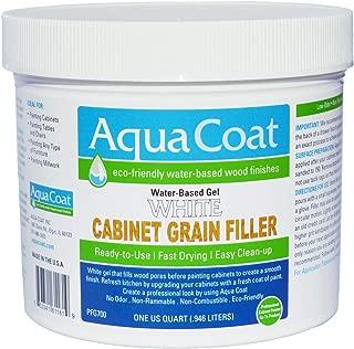 Aqua Coat, Best White Cabinet Wood Grain Filler, White Gel, Water Based, Low Odor, Fast Drying, Non Toxic, Environmentally Safe (Quart)