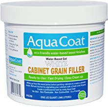 Aqua Coat, Best White Cabinet Wood Grain Filler, White Gel, Water Based, Low Odor, Fast Drying, Non Toxic, Environmentally...