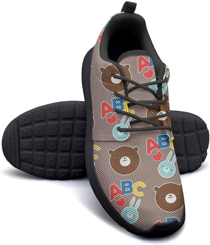 YSLC bluee Brown Bear Head Repeat Lightweight Running shoes Women Sneaker Sport Quick Dry shoes