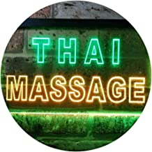 Thai Massage Illuminated Dual Color LED Neon Sign Green & Yellow 600 x 400mm st6s64-i0731-gy