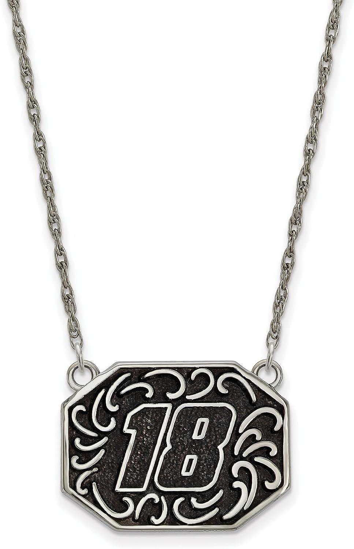 Nascar Stainless Split Chain Pendant